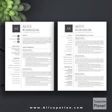 modern resume template cv template cover letter references 1 allcupation professional resume template cv template 1 2 and 3 page resume