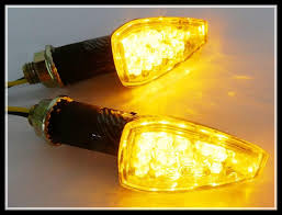 bjmoto 4pcs short amber motorcycle led turn signal indicators 12v 2w blinker flashers light lamp universal for ktm bmw honda