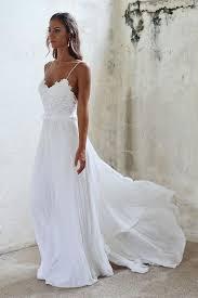 Boho Beach Wedding Dresses <b>Sexy Summer Spaghetti Straps</b> ...