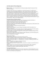 dispatcher job description for resume dispatcher resume driver    dispatcher job description for resume dispatcher resume driver templates job description job description police dispatcher by