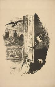 edgar allan poe terror of the soul book reviews unlimited pml 140626 raven french illustration of man at window raven le