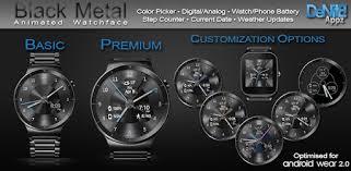 <b>Black Metal</b> HD Watch Face Widget & Live Wallpaper - Apps on ...
