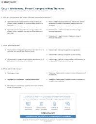 quiz worksheet phase changes in heat transfer study com print heat transfer phase changes worksheet