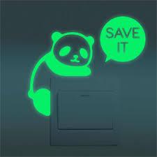 Sleeping Cat Glow in The Dark <b>Switch Sticker</b> Angel Star <b>Luminous</b> ...