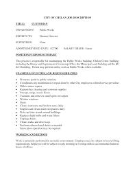 doc janitor resume skills examples qualifications custodian resume sample template