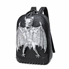 Vampire <b>Bats</b> Elephant Embossing <b>Rivet</b> Satchel Backpack ...