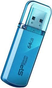 Купить <b>USB</b>-<b>накопитель Silicon Power Helios</b> 101 64GB Blue по ...