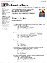 organizational behavior multiple choice quiz organizational organizational behavior multiple choice quiz organizational behavior