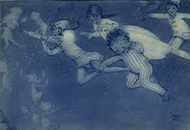 reading the collections week j m barrie peter pan and wendy flying to neverland illustration by mabel lucie atwell atwell was barrie s preferred illustrator of