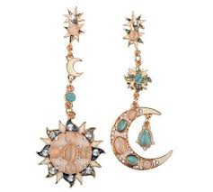 <b>Bohemia Sun and Moon</b> & Star Earrings | Online earrings, Star ...