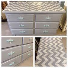 chevron gray dresser with teal hardware custom painted furniture denver colorado furniture store colorado chevron painted furniture