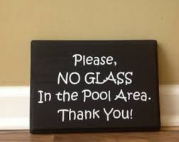 wood sign glass decor wooden kitchen wall: please no glass in the pool area swimming pool sign pool sign pool party pool rules summer door flat black wood hand painted