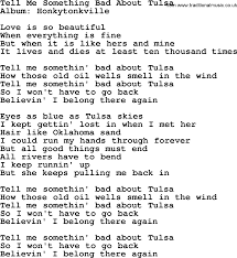 tell me something bad about tulsa by george strait lyrics george strait song tell me something bad about tulsa lyrics