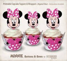 <b>24Pcs</b> Minnie Mouse Paper Cupcake <b>Wrappers</b> & Toppers For Kids ...