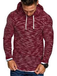 Men's Knitwear Hooded Fashion Casual Comfortable Sweater Sale ...
