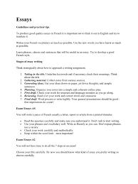 writing french essays