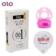 <b>Ультратонкие презервативы</b> OLO с вибратором, кольцо для ...