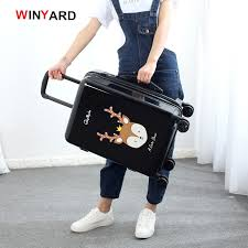 Wholesale!<b>24</b> inches fashion retro <b>cartoon</b> hardside suitcase for ...