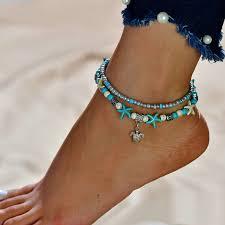 Turkish <b>Bohemian</b> Anklets For <b>Women Boho Beach Jewelry</b> ...
