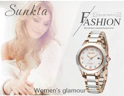 <b>SUNKTA</b> Fashion Women Watches <b>Rose</b> Gold Ladies Bracelet ...