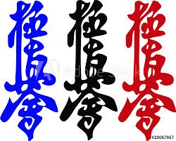 Martial arts.Kanji.Karate <b>kyokushinkai hieroglyph</b>.Colored . - Buy this ...