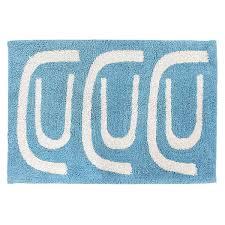 <b>Коврик для ванной Go</b> round голубого цвета Cuts&Pieces, 60х90 ...