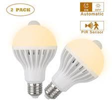 2-pack 7W E27 <b>LED PIR Motion Sensor</b> Auto Energy Saving Light ...
