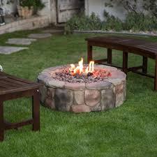 pit outdoor fireplace heater patio outdoor fire pit stone propane round patio backyard gas heater campfir