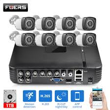 <b>FUERS</b> HD 4MP 1520P 8CH 6in1 AHD <b>DVR H</b>.<b>265</b> Surveillance ...