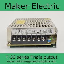 Factory outlet ! <b>30W</b> 5V 12V -12V <b>Triple output</b> psu <b>switching</b> power ...