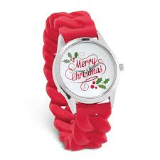 <b>Merry Christmas</b> Watch with <b>Silicone</b> Stretch <b>Band</b> | Collections Etc.