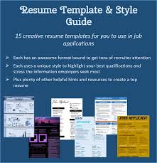 resume template style guide reverse tide resume template