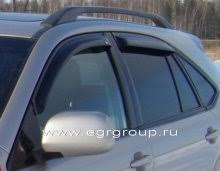 <b>Дефлекторы боковых окон</b> Lexus RX330 2003-2009 <b>темные</b>, 4 ...