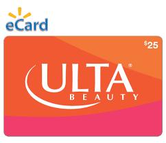 Ulta Beauty $25 Gift Card (Email Delivery) - Walmart.com - Walmart ...