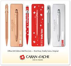 <b>Caran d'Ache Office 849</b><br/><b>Classic</b> Matte White Ball Pen Pens de ...