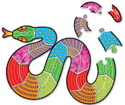 Tuzzles Aboriginal <b>Art</b> Floor Puzzle - Snake <b>20pcs</b>