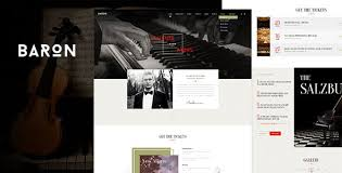 Baron - Music PSD Template by mustachethemes | ThemeForest