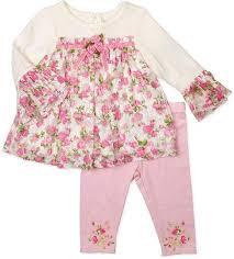 "doll clothes american girl 18"" pant set <b>pink big flowers</b>"