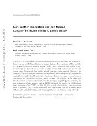 Dark matter annihilation and non-thermal Sunyaev-Zel'dovich effect ...