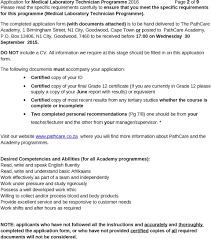 application for 2016 medical laboratory technician programme 2 the completed application form documents attached is to be hand delivered to the