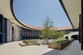 photo essay pierce college library higher education hmc center courtyard