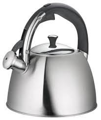 "<b>Чайник Regent Inox</b> ""Linea Tea"", со свистком, цвет: серебристый ..."
