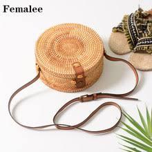 <b>Round Straw Bags</b> Women <b>Summer</b> Rattan <b>Bag</b> Handmad ...