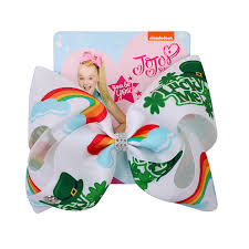 "<b>8</b>"" Jojo <b>Bows</b> for Girls /<b>Jojo Siwa</b> Large St. Patrick's Day Hair <b>Bows</b> ..."