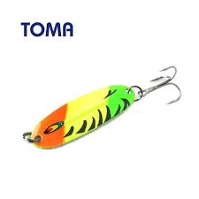 TOMA <b>5pcs</b>/lot <b>Spoon</b> Metal <b>Fishing Lures</b> Copper 56mm 7g ...