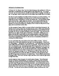 critical essay   all quiet on the western front   gcse english    page  zoom in