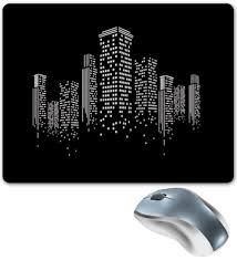 """Коврик для мышки """"Огни ночного города."""" #2701223 от cutworld ..."""
