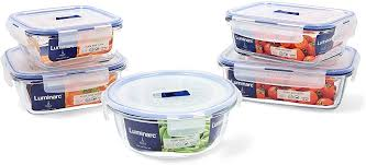 <b>Luminarc Pure Box Active</b> Set of 5 Glass Airtight Containers, Extra ...