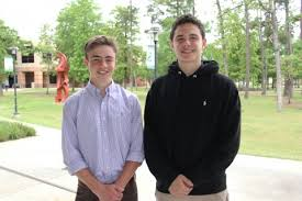 students awarded by institute at rice university for essays on  jack whitney left and kevin dural were each awarded for the essays they submitted