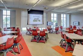 flexibility and the future of classrooms at virginia tech ksa the building also has many breakout spaces for informal meetings among students and faculty this required furniture arrangements to support a variety of